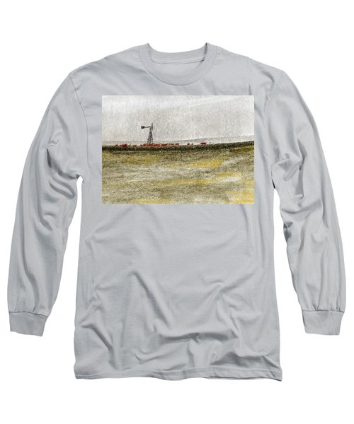 Water, Ranching, And Cattle Long Sleeve T-Shirt by R Kyllo