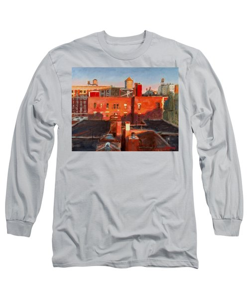 Water Towers At Sunset No. 3 Long Sleeve T-Shirt