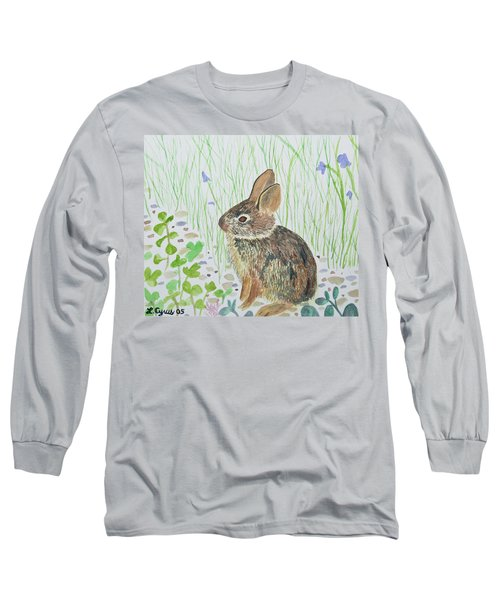 Watercolor - Baby Bunny Long Sleeve T-Shirt