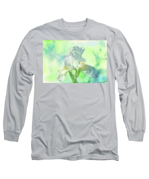 Watercolor Iris Long Sleeve T-Shirt