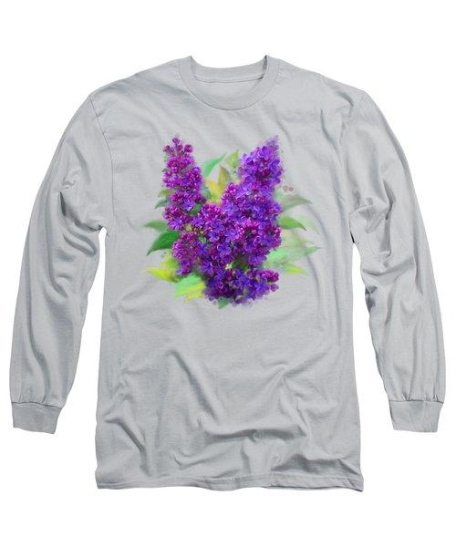 Watercolor Lilac Long Sleeve T-Shirt