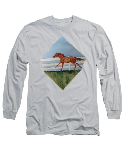 Watercolor Pony Long Sleeve T-Shirt by Joyce Wasser