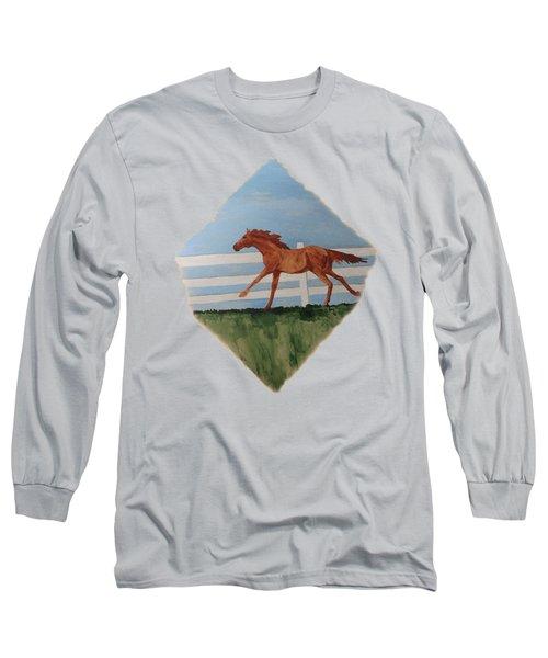 Watercolor Pony Long Sleeve T-Shirt