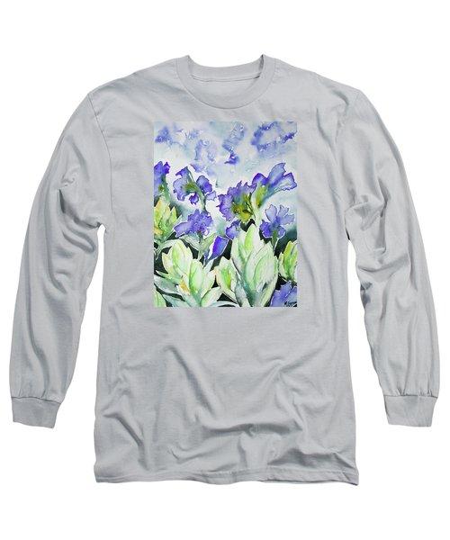 Watercolor - Rocky Mountain Wildflowers Long Sleeve T-Shirt