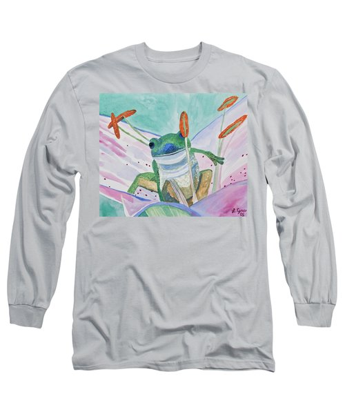 Watercolor - Tree Frog Long Sleeve T-Shirt