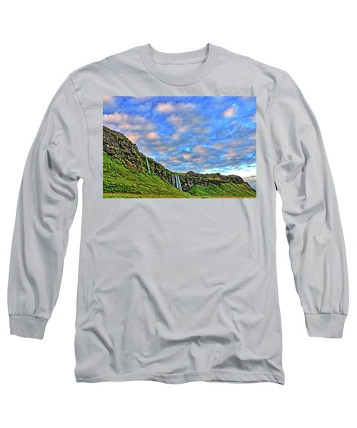Long Sleeve T-Shirt featuring the photograph Waterfall Hill by Scott Mahon