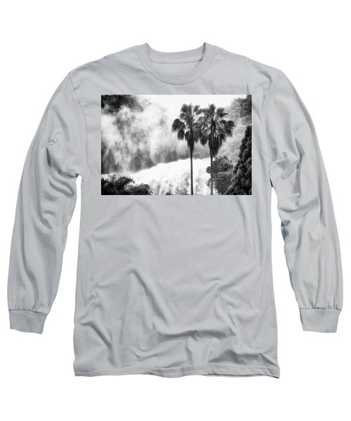 Waterfall Sounds Long Sleeve T-Shirt by Hayato Matsumoto