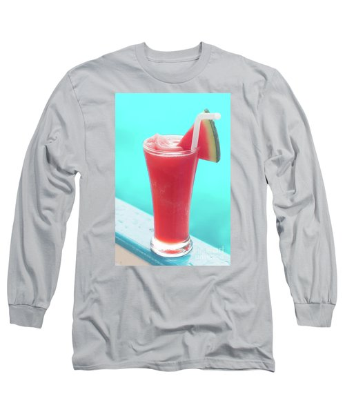 Long Sleeve T-Shirt featuring the photograph Waterlemon Smoothie by Atiketta Sangasaeng