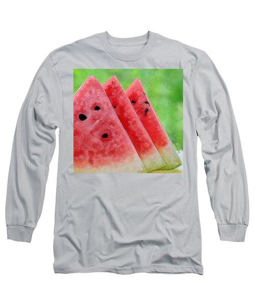 Watermelon Slices Long Sleeve T-Shirt
