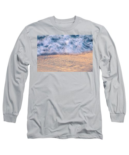 Long Sleeve T-Shirt featuring the photograph Wave Abstract 3, Hoi An, 2014 by Hitendra SINKAR