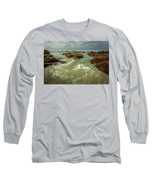 Waves Over Boulders Long Sleeve T-Shirt