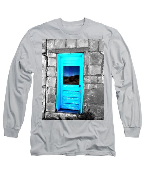 Weathered Blue Long Sleeve T-Shirt