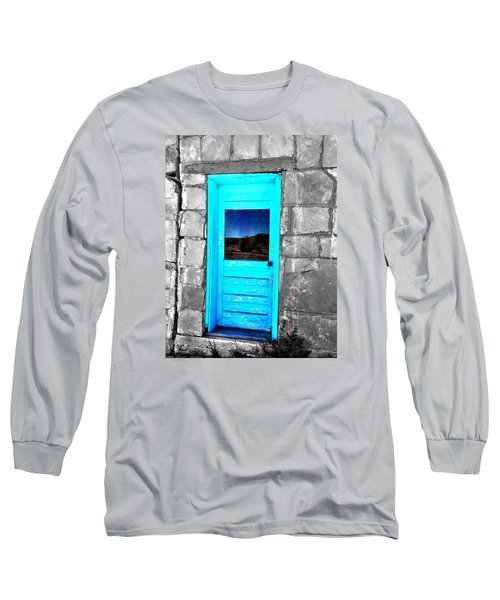Weathered Blue Long Sleeve T-Shirt