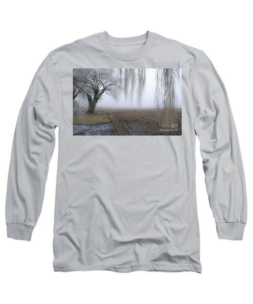 Weeping Frozen Willow Long Sleeve T-Shirt by Amy Fearn