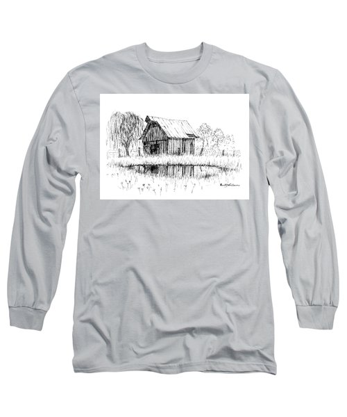 Weeping Willow And Barn Two Long Sleeve T-Shirt
