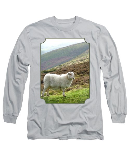 Welsh Mountain Sheep Long Sleeve T-Shirt by Gill Billington