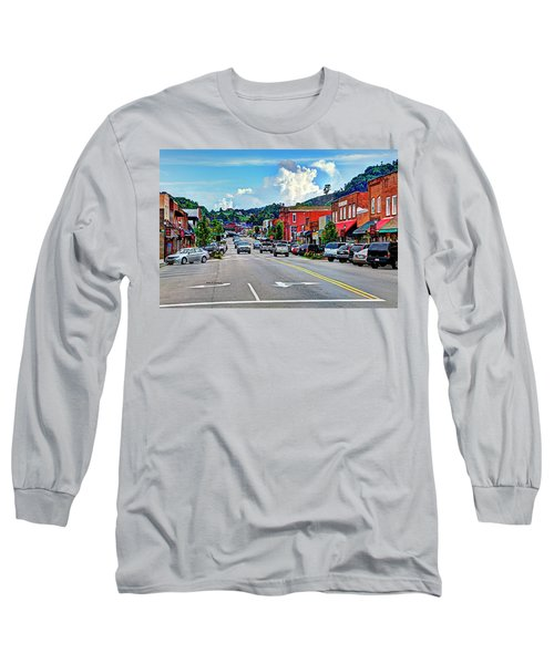 West Jefferson Streetscape Long Sleeve T-Shirt by Dale R Carlson