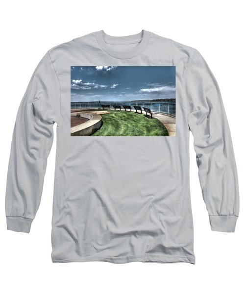 West Lake Okoboji Pier Long Sleeve T-Shirt