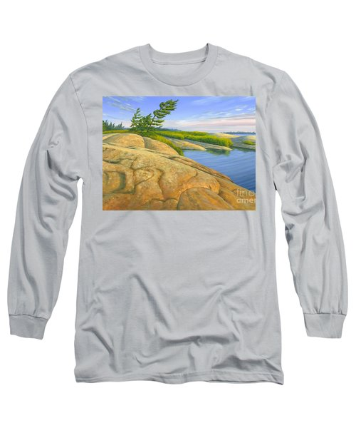 Long Sleeve T-Shirt featuring the painting Wind Swept by Michael Swanson