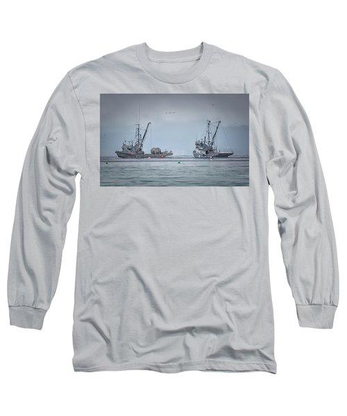 Western Gambler And Marinet Long Sleeve T-Shirt by Randy Hall