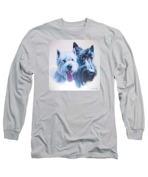 Westie And Scotty Dogs Long Sleeve T-Shirt