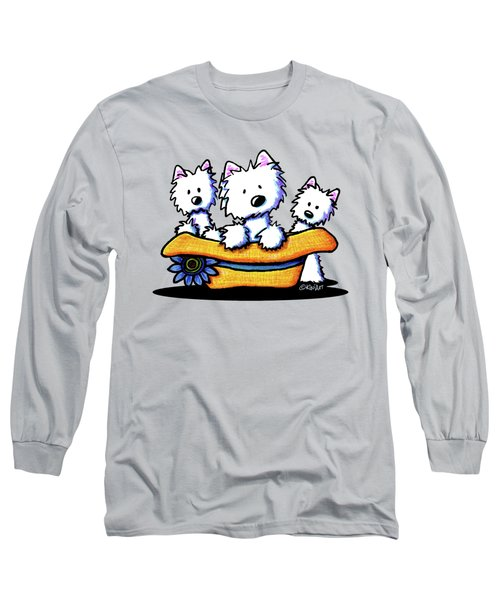 Westie Hat Trio Long Sleeve T-Shirt