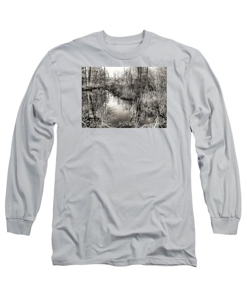 Long Sleeve T-Shirt featuring the photograph Wetland Essence by Betsy Zimmerli