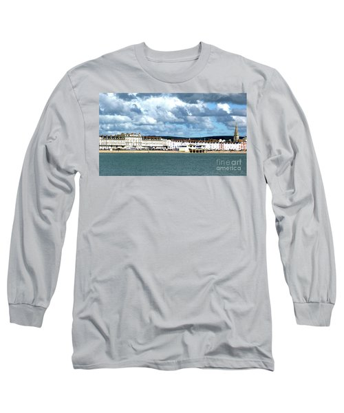 Weymouth Seafront Long Sleeve T-Shirt by Stephen Melia