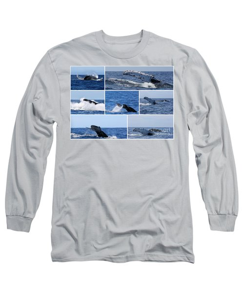 Whale Action Long Sleeve T-Shirt