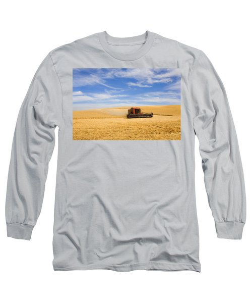 Wheat Harvest Long Sleeve T-Shirt by Mike  Dawson