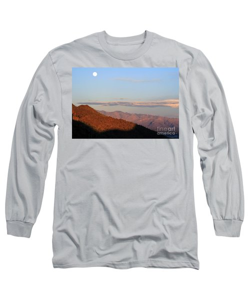 When The Mountains Turn Pink... Long Sleeve T-Shirt by Paula Guttilla