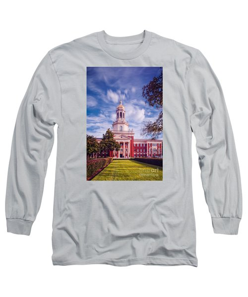 Whimsical Clouds Behind Pat Neff Hall - Baylor University - Waco Texas Long Sleeve T-Shirt