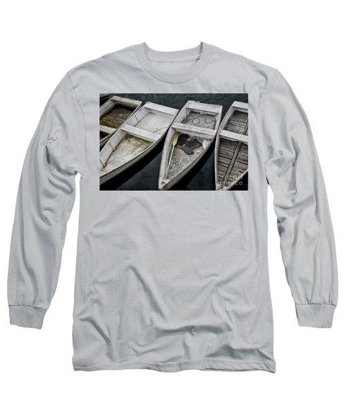 White Boats Long Sleeve T-Shirt