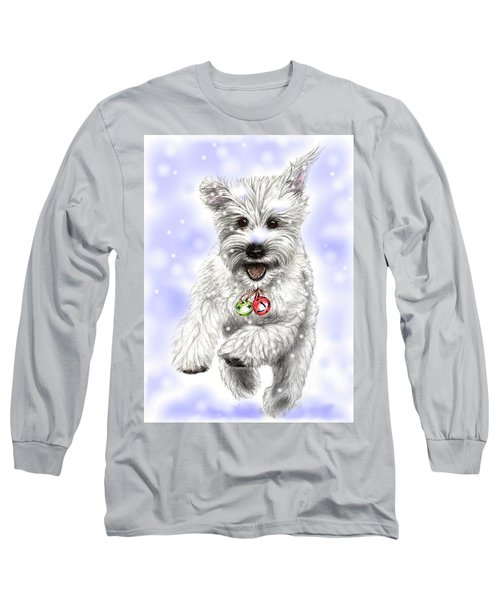 White Christmas Doggy Long Sleeve T-Shirt