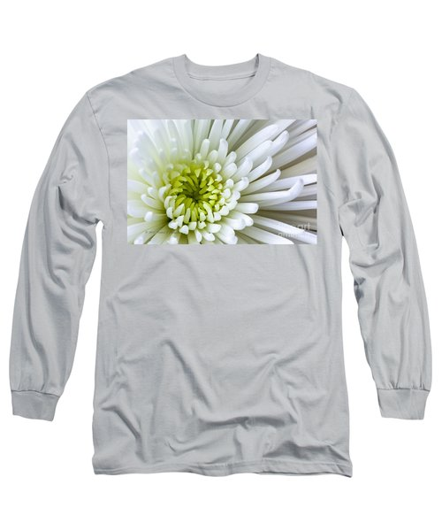 White Chrysanthemum Long Sleeve T-Shirt