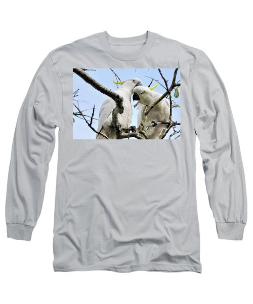 White Cockatoos Long Sleeve T-Shirt by Kaye Menner