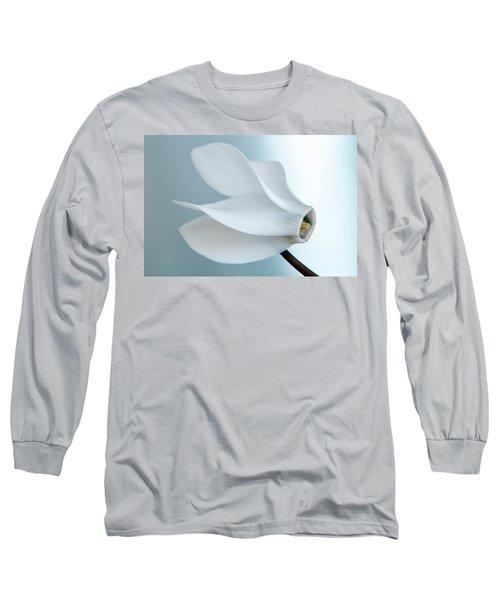White Cyclamen. Long Sleeve T-Shirt by Terence Davis