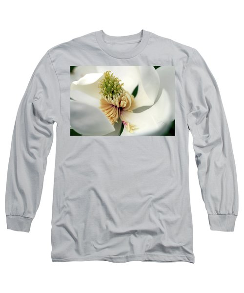 Long Sleeve T-Shirt featuring the photograph Magnolia Blossom by Meta Gatschenberger
