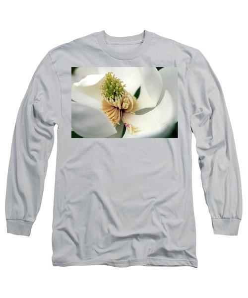 Magnolia Blossom Long Sleeve T-Shirt by Meta Gatschenberger