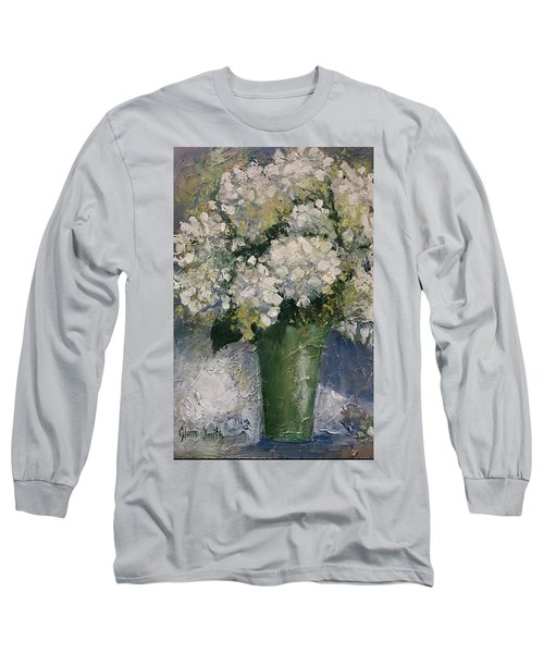 White Hydrangeas Long Sleeve T-Shirt