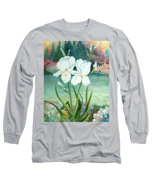 White Iris Love Long Sleeve T-Shirt