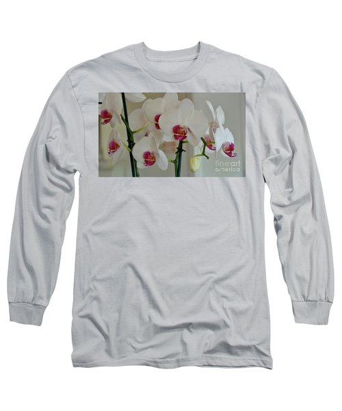 White Orchid Mothers Day Long Sleeve T-Shirt by Marsha Heiken