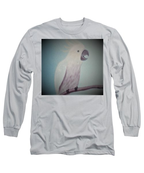 White Peacock Long Sleeve T-Shirt