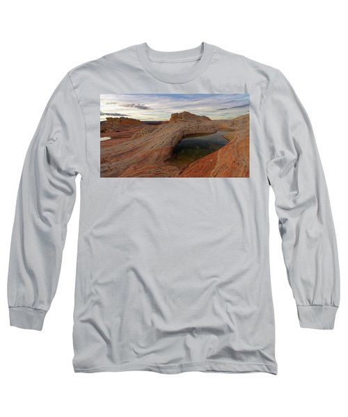 Long Sleeve T-Shirt featuring the photograph White Pocket Reflecton by Jonathan Davison
