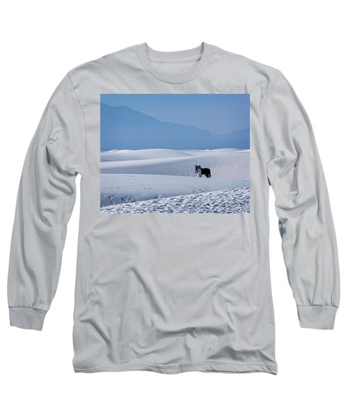 White Sands Horse And Rider #5b Long Sleeve T-Shirt