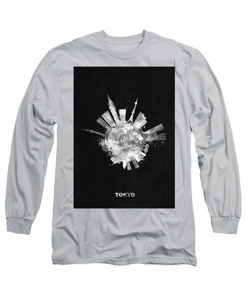 White Skyround / Skyline Art Of Tokyo, Japan Long Sleeve T-Shirt