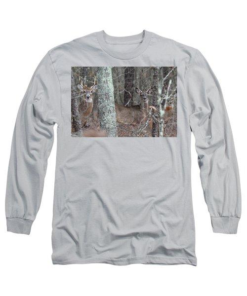 White Tailed Deer Smithtown New York Long Sleeve T-Shirt