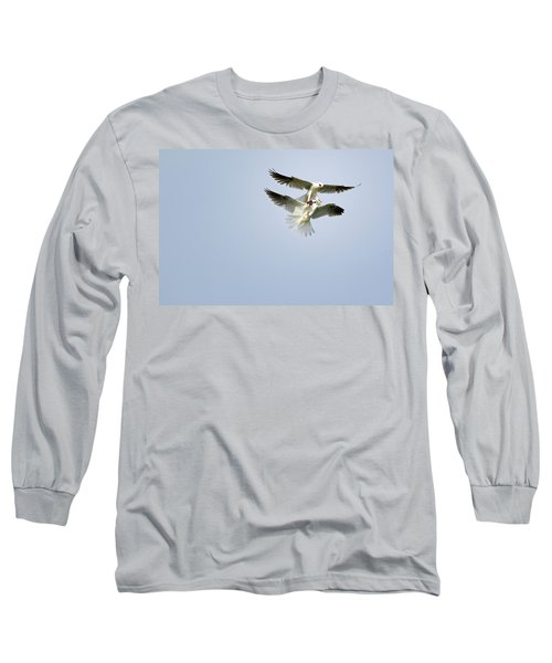 White-tailed Kites Food Exchange Long Sleeve T-Shirt