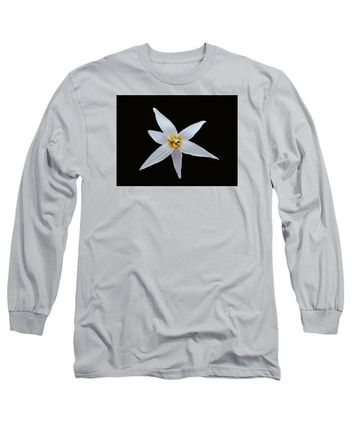 White Trout Lily Long Sleeve T-Shirt