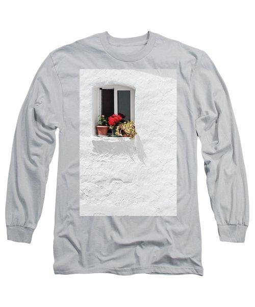 White Window Long Sleeve T-Shirt